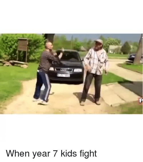 Funny: When year 7 kids fight