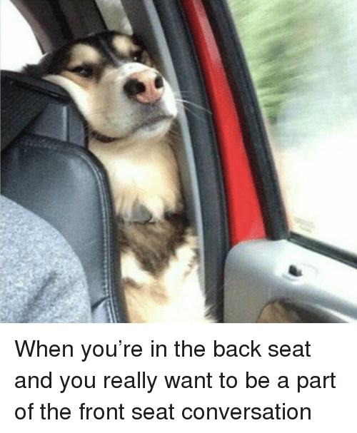 Girl Memes, Back, and Https: When you're in the back seat and you really want to be a part of the front seat conversation