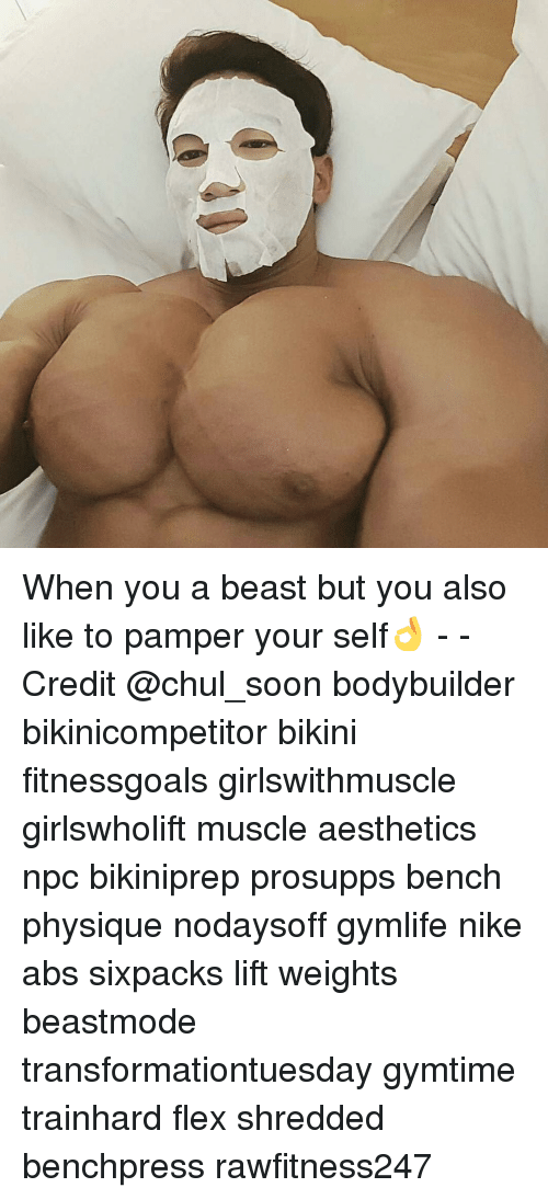 Flexing, Memes, and Nike: When you a beast but you also like to pamper your self👌 - - Credit @chul_soon bodybuilder bikinicompetitor bikini fitnessgoals girlswithmuscle girlswholift muscle aesthetics npc bikiniprep prosupps bench physique nodaysoff gymlife nike abs sixpacks lift weights beastmode transformationtuesday gymtime trainhard flex shredded benchpress rawfitness247