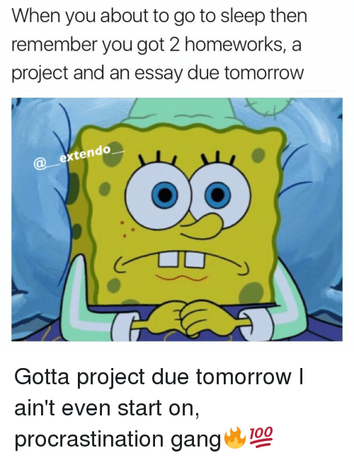 Essays on procrastination