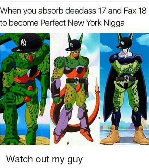 Memes, New York, and Watch Out: When you absorb deadass 17 and Fax 18  to become Perfect New York Nigga Watch out my guy