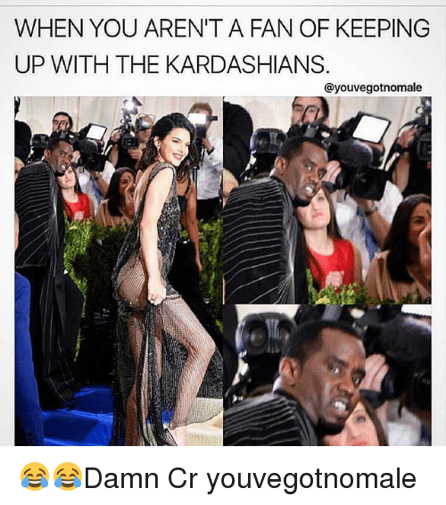Kardashians, Keeping Up With the Kardashians, and Memes: WHEN YOU ARENITA FAN OF KEEPING  UP WITH THE KARDASHIANS.  ayouvegotnomale 😂😂Damn Cr youvegotnomale