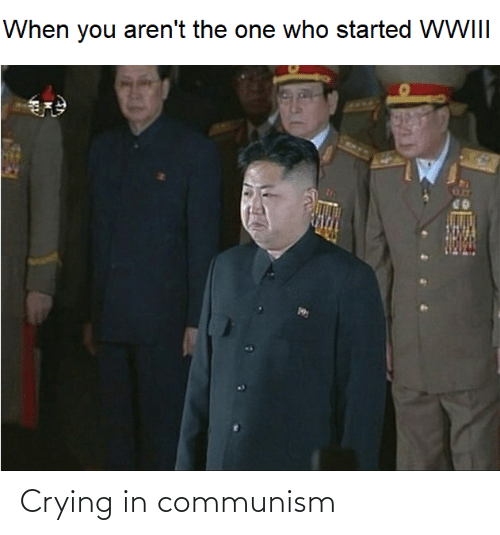 Communism: When you aren't the one who started WWIII Crying in communism