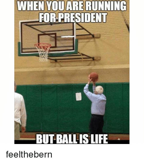 NBA: WHEN YOU ARERUNNING  FOR-PRESIDENT  BUT BALL IS LIFE feelthebern