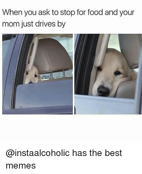 Food, Funny, and Memes: When you ask to stop for food and your  mom just drives by @instaalcoholic has the best memes