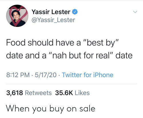 On Sale: When you buy on sale