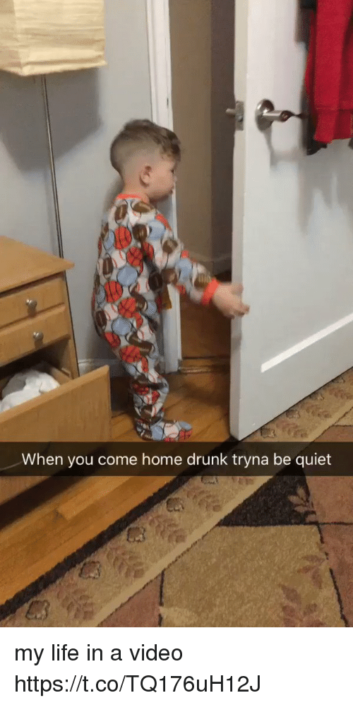 Drunk, Life, and Home: When you come home drunk tryna be quiet my life in a video https://t.co/TQ176uH12J
