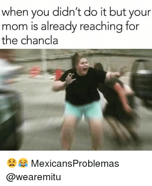 Memes, Mom, and 🤖: when you didn't do it but your  mom is already reaching for  the chancla 😫😂 MexicansProblemas @wearemitu