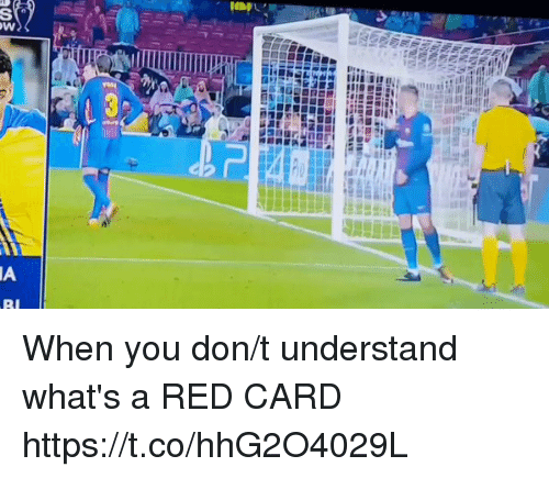 Soccer, Red, and Don: When you don/t understand what's a RED CARD https://t.co/hhG2O4029L