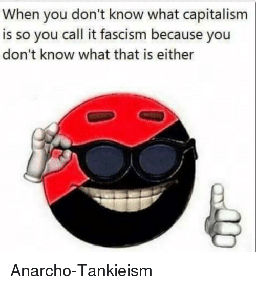 Politics, Capitalism, and Fascism: When you don't know what capitalism  is so you call it fascism because you  don't know what that is either