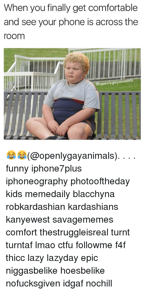 Comfortable, Ctfu, and Funny: When you finally get comfortable  and see your phone is across the  room  openlygayanimals 😂😂(@openlygayanimals). . . . funny iphone7plus iphoneography photooftheday kids memedaily blacchyna robkardashian kardashians kanyewest savagememes comfort thestruggleisreal turnt turntaf lmao ctfu followme f4f thicc lazy lazyday epic niggasbelike hoesbelike nofucksgiven idgaf nochill