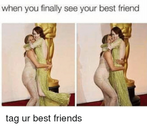 best friend tag: when you finally see your best friend tag ur best friends