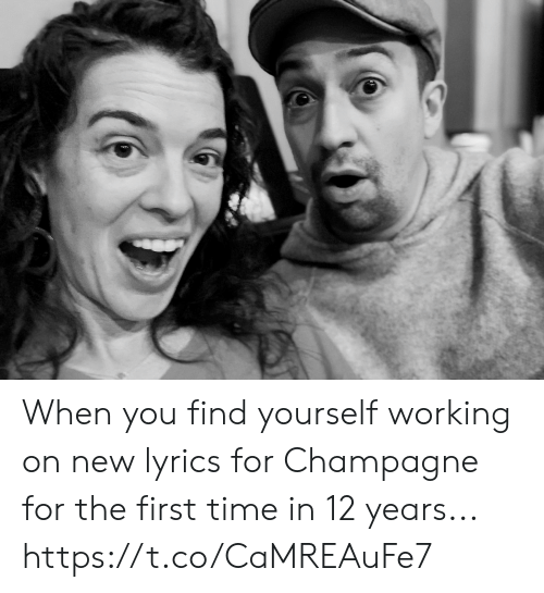 Champagne: When you find yourself working on new lyrics for Champagne for the first time in 12 years... https://t.co/CaMREAuFe7