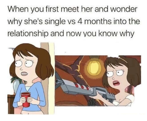Humans of Tumblr, Wonder, and Single: When you first meet her and wonder  why she's single vs 4 months into the  relationship and now you know why