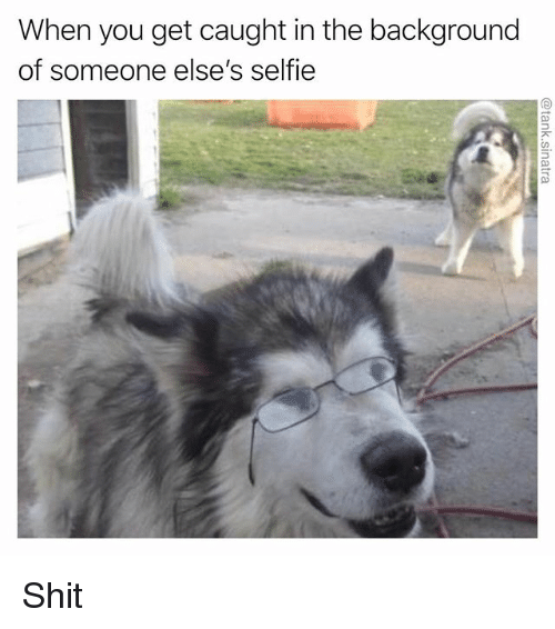 Funny, Selfie, and Shit: When you get caught in the background  of someone else's selfie Shit