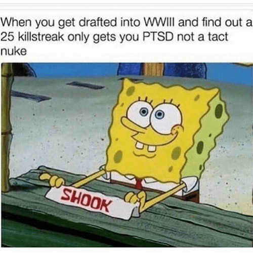 killstreaks: When you get drafted into WWIII and find out a  25 killstreak only gets you PTSD not a tact  nuke  SHOOK