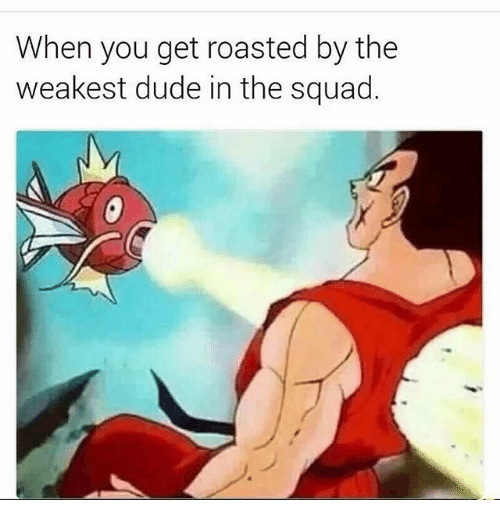 Duded: When you get roasted by the  weakest dude in the squad