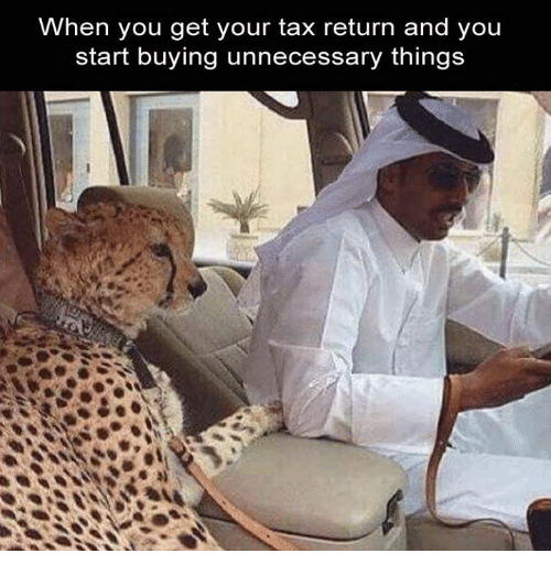 When You Get Your Tax Return and You Start Buying ...