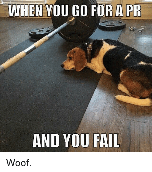 SIZZLE: WHEN YOU GO FOR A PR  AND YOU FAIL Woof.