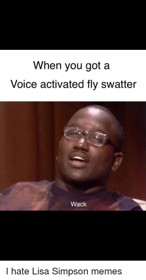 Simpson Memes: When you got a  Voice activated fly swatter  Wack