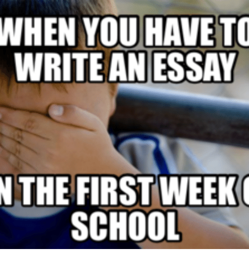 essay first week of school First day of school essays: over 180,000 first day of school essays, first day of school term papers, first day of school research paper, book reports 184 990 essays, term and research.