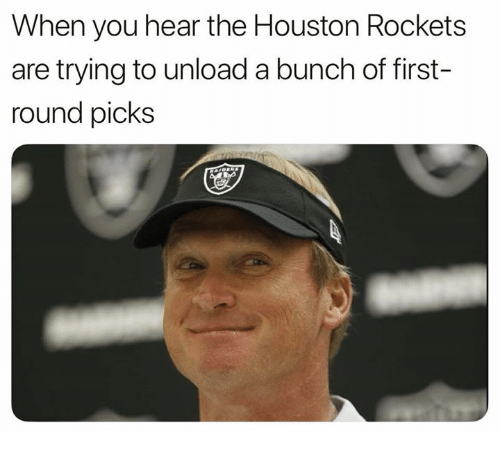 Houston Rockets: When you hear the Houston Rockets  are trying to unload a bunch of first-  round picks
