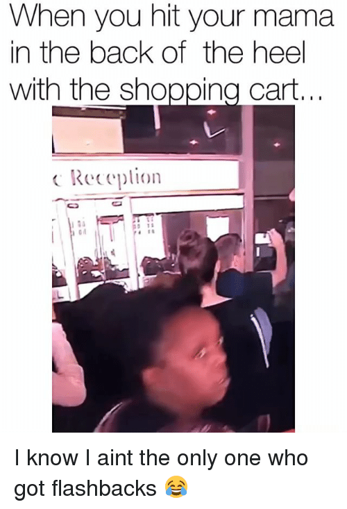 Funny, Shopping, and Only One: When you hit your mama  in the back of the heel  with the shopping cart.  Reeplon I know I aint the only one who got flashbacks 😂