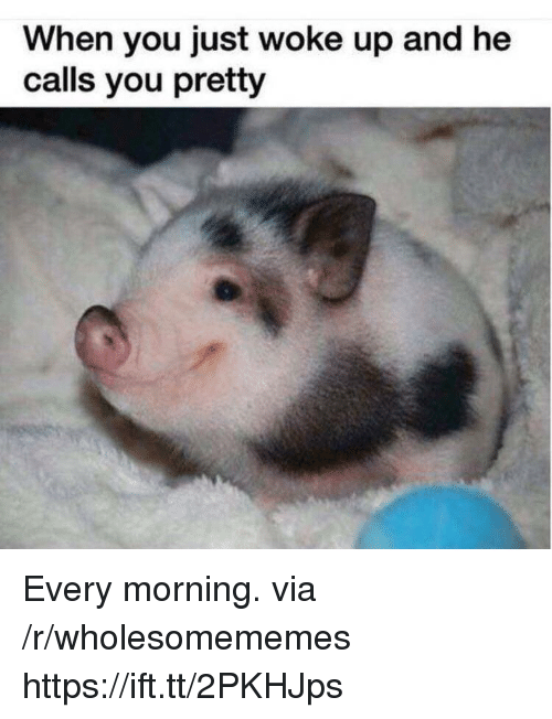Via, You, and Href: When you just woke up and he  calls you pretty Every morning. via /r/wholesomememes https://ift.tt/2PKHJps