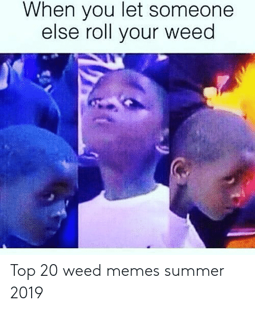 Weed Memes: When you let someone  else roll your weed Top 20 weed memes summer 2019