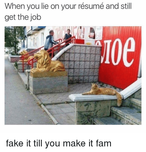 How To Lie On Your Resume