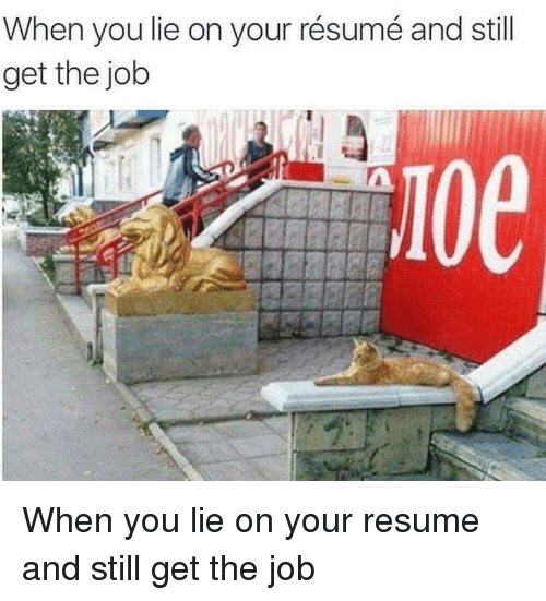 when you lie on your résumé and still get the job when you lie on