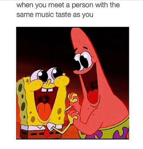 Music, You, and Person: when you meet a person with the  same music taste as you