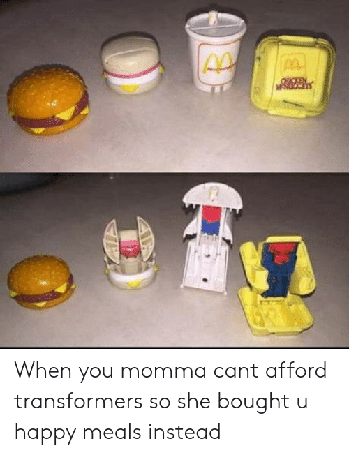 Transformers: When you momma cant afford transformers so she bought u happy meals instead