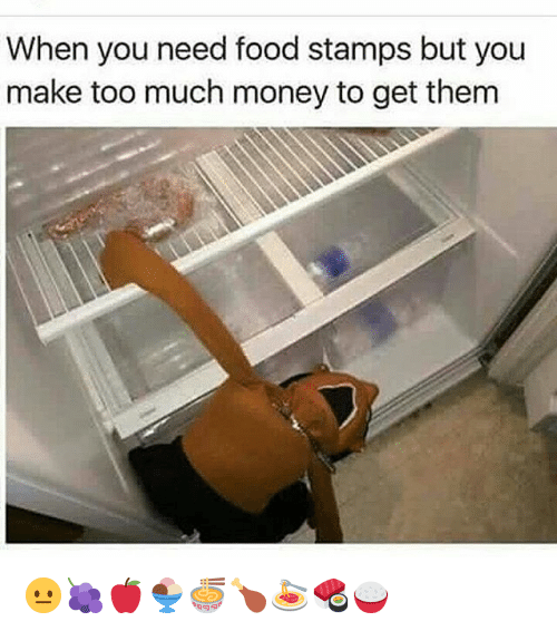 how to get food stamps if you make too much