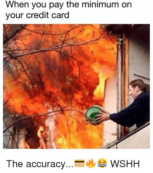 Memes, Wshh, and 🤖: When you pay the minimum on  your credit card The accuracy...💳🔥😂 WSHH