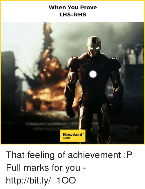 Memes, Http, and 🤖: When You Prove  Bewakoof  .com That feeling of achievement :P  Full marks for you - http://bit.ly/_1OO_