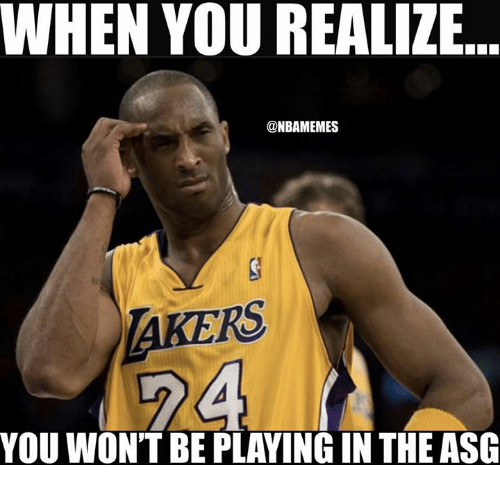 Memes, 🤖, and You: WHEN YOU REALIZE  @NBAMEMES  AKERS  YOU WON'T BE PLAYING IN THE ASG