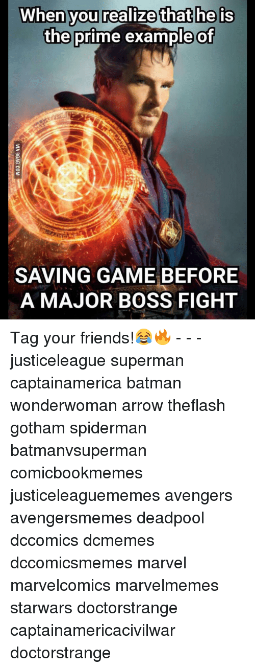 Batman, Friends, and SpiderMan: When you realize that he is  the prime example of  SAVING GAME BEFORE  A MAJOR BOSS FIGHT Tag your friends!😂🔥 - - - justiceleague superman captainamerica batman wonderwoman arrow theflash gotham spiderman batmanvsuperman comicbookmemes justiceleaguememes avengers avengersmemes deadpool dccomics dcmemes dccomicsmemes marvel marvelcomics marvelmemes starwars doctorstrange captainamericacivilwar doctorstrange