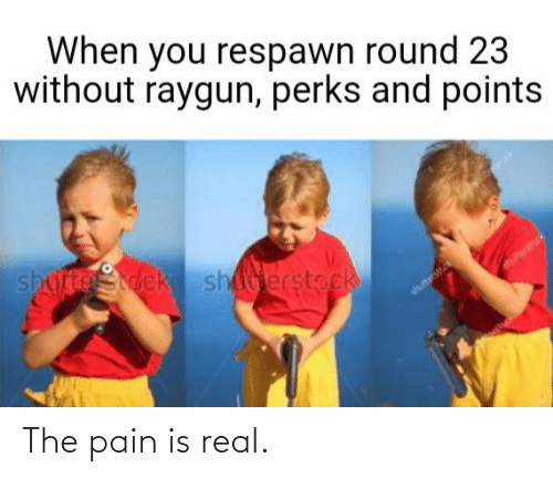 raygun: When you respawn round 23  without raygun, perks and points  shufteStock sherstock  shultterst The pain is real.