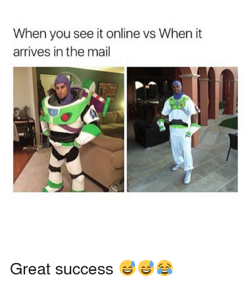 Memes, When You See It, and Mail: When you see it online vs When it  arrives in the mail Great success 😅😅😂