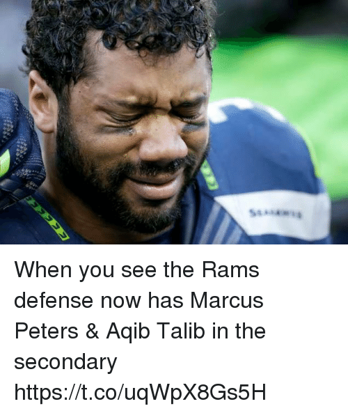 Aqib Talib: When you see the Rams defense now has Marcus Peters & Aqib Talib in the secondary https://t.co/uqWpX8Gs5H