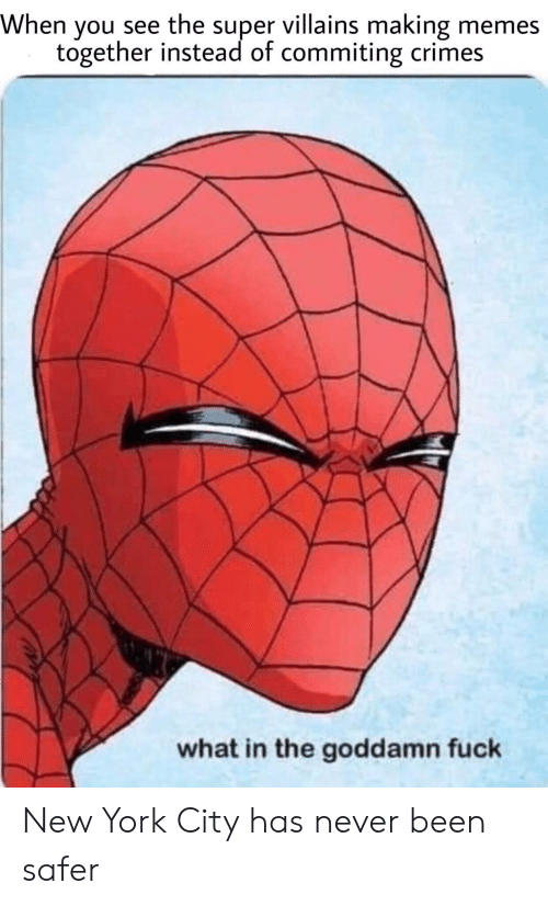 New York City: When you see the super villains making memes  together instead of commiting crimes  what in the goddamn fuck New York City has never been safer