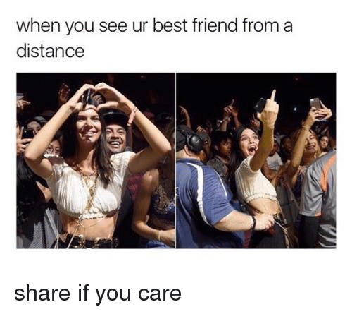 Best Friend, Memes, and Best: when you see ur best friend from a  distance share if you care