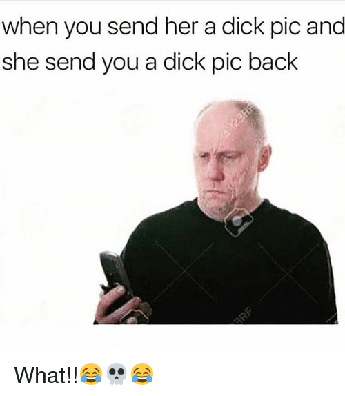 Dick Pics, Memes, and 🤖: when you send her a dick pic and  she send you a dick pic back What!!😂💀😂