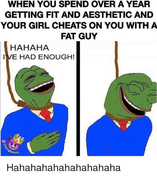Fit guy dating fat girl
