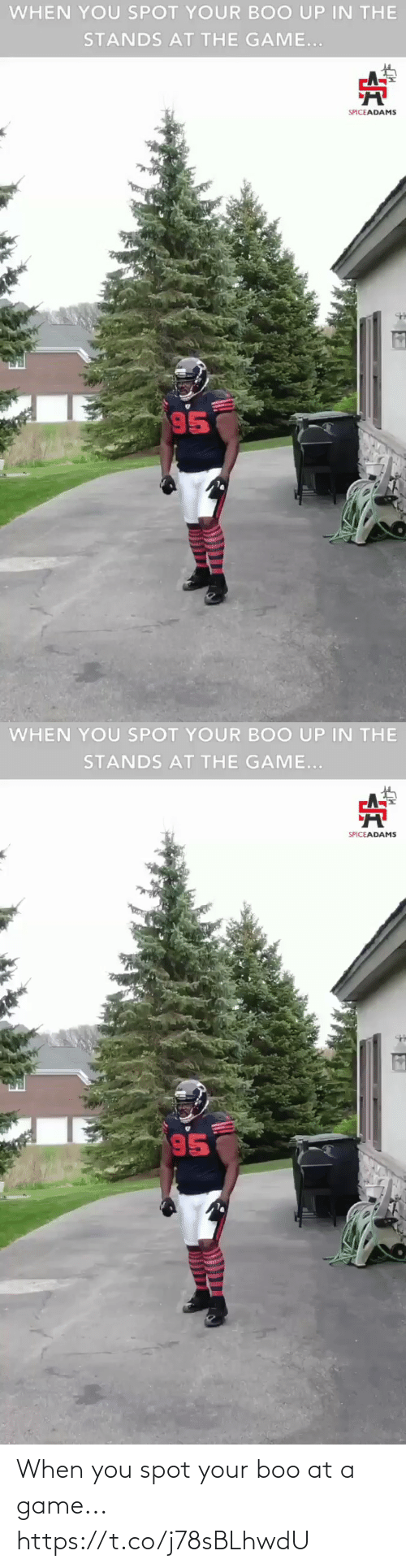boo: When you spot your boo at a game... https://t.co/j78sBLhwdU