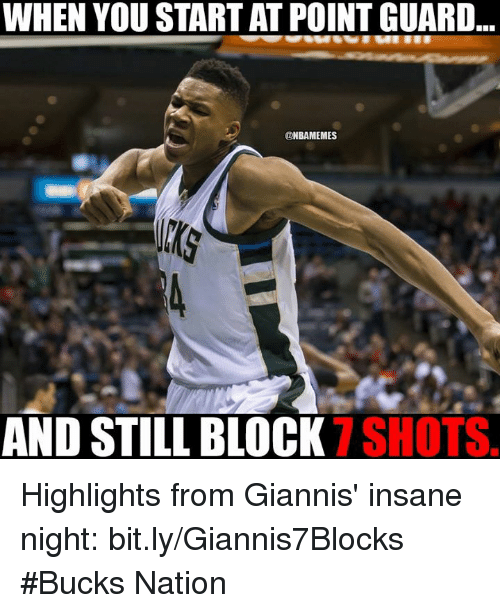 WHEN YOU START AT POINT GUARD ONBAMEMES AND STILL BLOCK ...