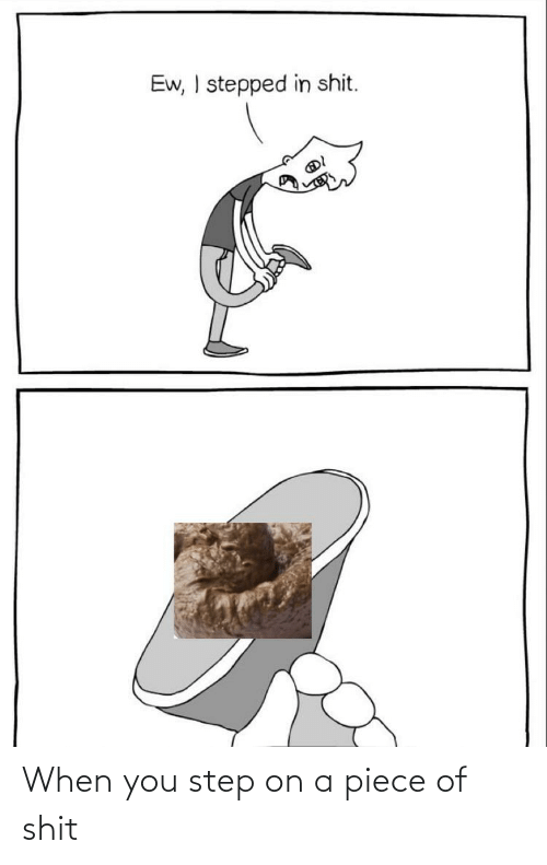 You Step: When you step on a piece of shit