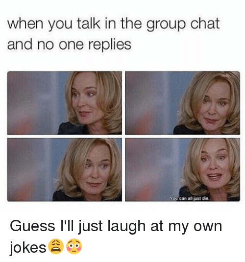 Funny Meme For Group Chat : When you talk in the group chat and no one replies can