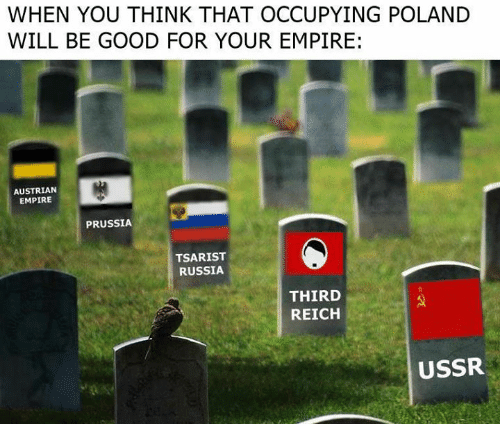 Empire, Memes, and Good: WHEN YOU THINK THAT OCCUPYING POLAND  WILL BE GOOD FOR YOUR EMPIRE:  AUSTRIAN  EMPIRE  PRUSSIA  TSARIST  RUSSIA  THIRD  REICH  USSR